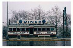 "John Baeder ""Belleville Diner, 1977""   C print on kodak Endura paper, 50 x 75 cm"