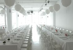 all white party decoration | West Aussie Wedding: Decorations and Styling