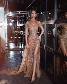 One Shoulder Tulle Sexy Slit Sparkly Rhinestones Mermaid Prom Dresses, – Dairy Bridal Sexy Formal Dresses, Elegant Dresses For Women, Simple Dresses, Pretty Dresses, Beautiful Dresses, Sparkly Dresses, Casual Dresses, Sexy Long Dress, Awesome Dresses