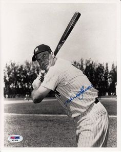 """Hank Bauer Signed 8x10 Photo 1948-61 New York Yankees KC Athletics PSA COA . $30.00. All-Star Major League Baseball RightfielderHank BauerHand Signed 8x10"""" Black and White PhotographBauer Played For:New York Yankees 1948-1959Kansas City Athletics 1960-1961.GREAT AUTHENTIC HANK BAUER BASEBALL COLLECTIBLE!!AUTOGRAPHS AUTHENTICATED BY PSA DNA AUTHENTICATIONS WITH NUMBERED PSA DNA STICKER ON ITEM AND MATCHING NUMBERED PSA DNA CERTIFICATE OF AUTHENTICITY (COA) INCLUDED WITH I..."""