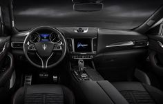 Just like the Ghibli model, the all-new 2019 Maserati Levante Trofeo rides wide and low, and the sporty stance is not missing at all. To be more precise, Levante looks more like a taller wagon than actual SUV. Maserati Convertible, Maserati Granturismo Convertible, Maserati Quattroporte Gts, Maserati Biturbo, Maserati Alfieri, Maserati Suv, Maserati Bora, Lamborghini Huracan, Bugatti