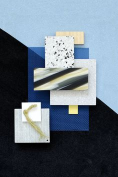 Material Mood Of The Week ~ Wowen Plastic Mesh & Glass Fiber Material Color Palette, Ecole Design, Mood Board Interior, Material Board, Mood And Tone, Collage, Colour Board, Colour Set, Color Balance