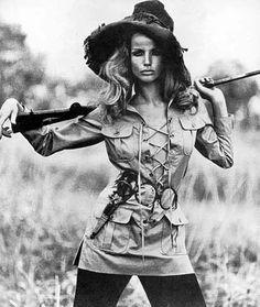 The Safari jacket (1968), as worn by Veruschka in a Franco RuBartelli Vogue photoshoot