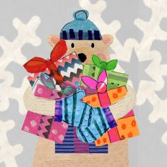 Christmas Bear by Tracey English www.tracey-english.blogspot.co.uk