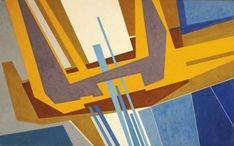 Gualtiero Nativi - Tempo di passione no 1, 1963 - Olio su tela, cm. 100 x 160 - FerrarinArte