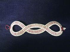 Baseball Cuff Bracelet Game Twisted Original by BraceletsbyMolly, $25.00