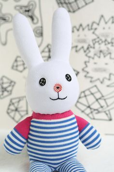 Handmade Large Bunny stuffed animal toys  little by Toyapartment, $13.90