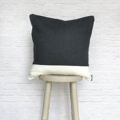 Blue & White Cushion Stripe Linen Cotton Mix by REWHomeware $26 etsy