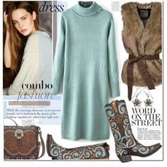 Warm Up: Long-Sleeve Dresses by j-sharon on Polyvore featuring NOVICA, Anja, longsleevedress and bhalo