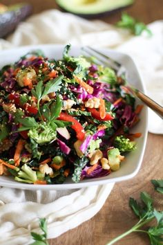 Feel like detoxing after this last Super Bowl Food Feast? Then try this clean eating, Ultimate Detox Salad. Pin now, check later.