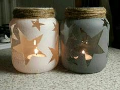 Creative DIY Mason Jar Decorations - Page 23 of 45 - VimDecor diy crafts, diy project, mason jars projects, diy and crafts mason jars Mason Jar Projects, Mason Jar Crafts, Mason Jar Diy, Diy Projects, Baby Food Jar Crafts, Mason Jar Candle Holders, Crafts With Glass Jars, Fall Mason Jars, Mason Jar Candles