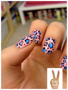 Nail Ideas pink and blue