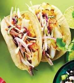 Grilled Fish Tacos with Jalapeño Slaw - Clean Eating - Clean Eating
