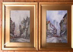 Charles James Keats Royal Society of British ArtistsLarge pair of Continental City views in their original glazed matching giltwood frames.Late 19th Century Antiques Atlas Watercolour Paintings, Watercolor, Royal Society, Charles James, 19th Century, Frames, British, Pairs, City
