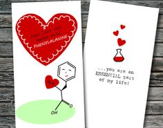 Mini Nerdy Science Valentines Day Cards Set of by NerdyWordsGifts