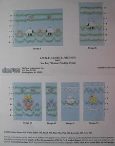 Smocking Plate, Little Lambs and Friends 10037 Sew Easy, Ellen McCarn