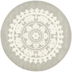 Handmade Soho Chrono Grey/ Ivory New Zealand Wool Rug (6' Round) $170
