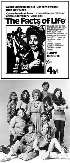 A very 80s sitcom, but The Facts of Life actually premiered in 1979.