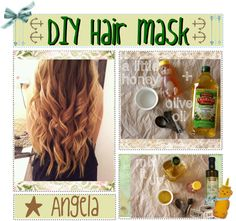 """DIY Hair Mask"" by the-amazing-tippies ❤ liked on Polyvore"