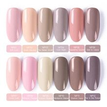 BORN PRETTY 12 Pcs Nail Gel Polish Set, You can collect images you discovered organize them, add your own ideas to your collections and share with other people. Gel Nails At Home, Uv Gel Nails, Gel Nail Polish, Acurlic Nails, Gel Nail Kit, Natural Nail Polish, Pink Polish, Manicures, Coffin Nails