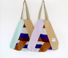 kick FLAG : flag bag [mint×sand, light purple×sand]
