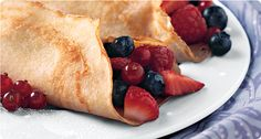 Easy Crepes (Krusteaz mix) fill with fresh fruit, pie filling, nutella & bananas... endless possibilites!