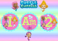 Cupcake Toppers HERE Bubble Guppies Banner PDF File HERE | Ryleighs ...