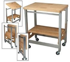 Folding Kitchen Cart Knife Brands 29 Best Tea Carts And Grocery Wagons Images Garden Rolling Flip Fold Jon Heath Stainless