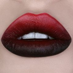 Ombred Red and Black Lips