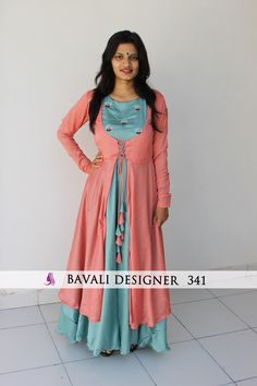 for order whats app to 09016708808 Indian Wedding Guest Dress, Dress Indian Style, Indian Outfits, Indian Wear, Designer Gowns, Indian Designer Wear, Fancy Kurti, Blouse Designs, Sleeve Designs