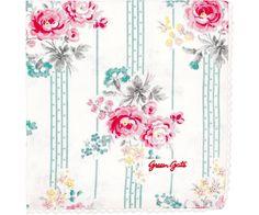 GreenGate Bread Basket Napkin - Lulu Mint - With Lace - Buy here online - Green Gate Item BRElul3408L