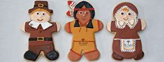 Gingerbread Pilgrims and Indian.....Brand new designs with CopperGifts.com with The Painted Cookie!