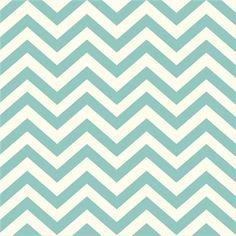 KNIT FABRIC -Birch Organic Fabric - Mod Basics 2 - Skinny Chevron Pool - 1 Yard - Knit Cotton