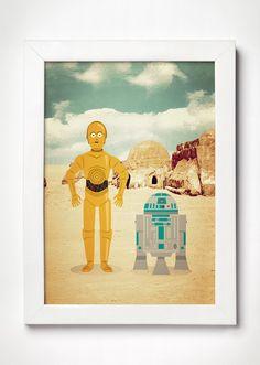 Poster Droids Star Wars - Meu Adorável Iglu