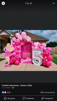 Barbie Birthday Party, Barbie Party, 5th Birthday, I Party, Party Ideas, Ideas Para Fiestas, 4 Years, Frame, Diy
