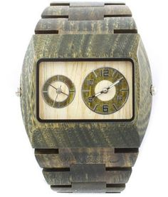 Wewood Men's Limited Edition Jupiter Army Dual Movement Wooden Watch: http://www.amazon.com/Wewood-Limited-Edition-Jupiter-Movement/dp/B006MCS58O/?tag=watch-pinterest-20