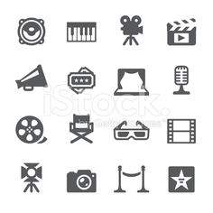 Mobico icons — Film industry royalty-free stock vector art