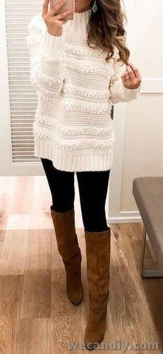 Best Casual Winter Outfits Part 3 – Autumn Fashion Mode Outfits, Fashion Outfits, Fashion Trends, Casual Winter Outfits, Fall Outfits, Cute Sweaters For Fall, Look Blazer, Beauty And Fashion, Mode Inspiration
