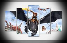 Mcanvas How To Train Your Dragon Dragons Wings Fire Canvas Print Wall Art Painting F Girl Themes, Room Themes, Nursery Themes, Wall Art Prints, Poster Prints, Canvas Prints, Dragon Nursery, 5 Panel Wall Art, How Train Your Dragon