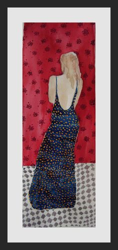 Original one of a kind watercolour painting by TremblingRhymes Female Dress, Fantasy Women, Watercolour Painting, Blue Flowers, Art Images, Design Art, Original Paintings, The Originals, Trending Outfits