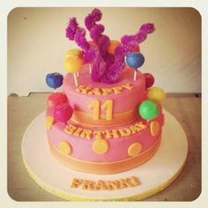 Pink polka dot Birthday cake by Belle's Patisserie