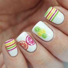 Summer Citrus Nails with Nailed Kit