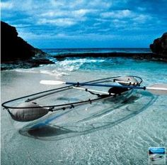 The Transparent Canoe Kayak - Hammacher Schlemmer.i want to canoe in a transparent canoe! Oh The Places You'll Go, Places To Visit, Canoa Kayak, Canoe And Kayak, Sea Kayak, Canoe Trip, Kayak Fishing, Fishing Boats, Canoe Boat