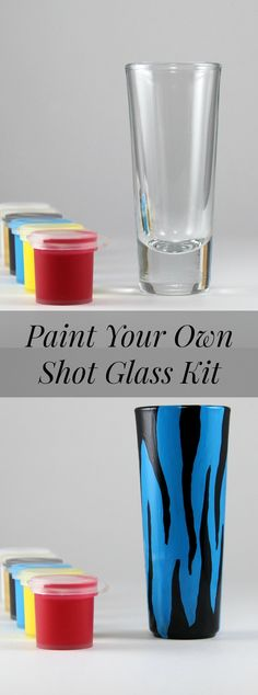 FUN Paint your own shot glass kit.