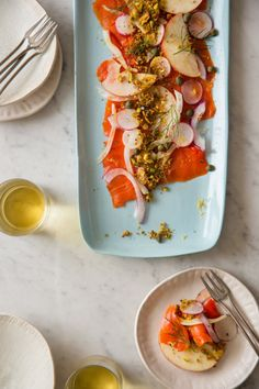 Smoked Salmon Carpaccio easy recipe / Spoon Fork Bacon