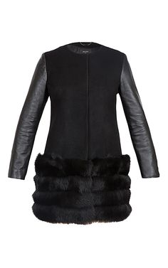 Verbier Coat With Arctic Fox Fur Trim by Milusha London, Fall-Winter 2015 (=)