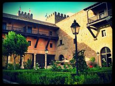 Inner courtyard of the Parador at Siguenza, Spain