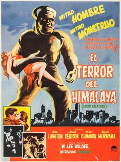 The Snow Creature (Mexican poster, 1954)