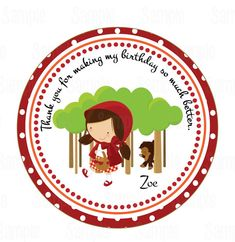Printable Little Red Riding Hood Party Favor by PartyInnovations09, $5.00