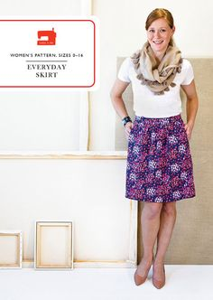 This Everday Skirt from Liesl + Co is very similar to Burda 9492 for children which I sewed for my niece -- love those pockets and may make an easy summer skirt for myself!